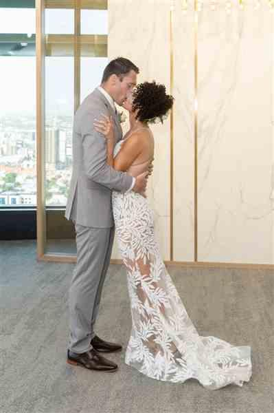 Anonymous verified customer review of NADINE MERABI Stella Gown (White)- RRP $885 - S / 4-days