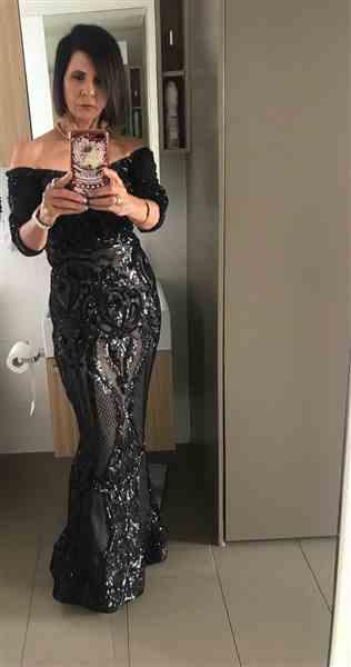 Carmel Carver verified customer review of TINAHOLY Sophia Gown Black/Nude (T1866) - RRP $520