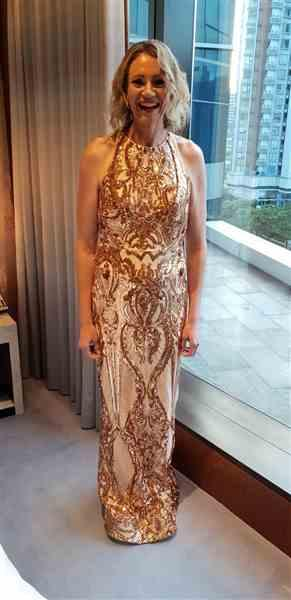 Katie L. verified customer review of TINAHOLY Amelia Gown Rose Gold (T1868) - RRP $460