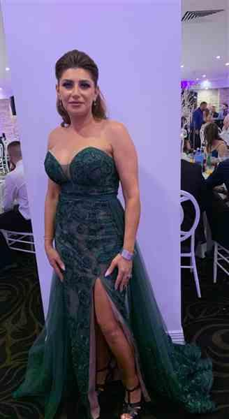 Linda E. verified customer review of JADORE Sienna Gown with Overskirt JX1067 (Emerald) - RRP $899