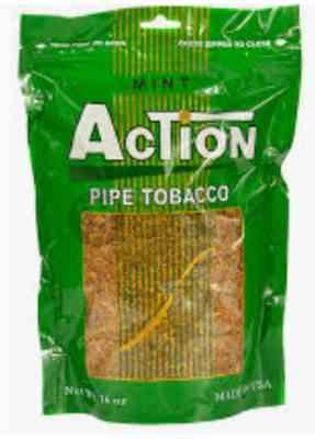 Tobacco Stock Action Mint Pipe Tobacco 16 oz. Bag Review