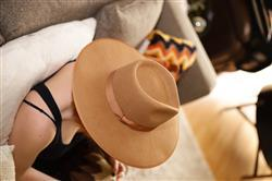 Carly T. verified customer review of Teak Rancher Fedora Hat