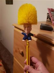 Heather G. verified customer review of Donald Trump Toilet Brush Set (Various Designs)
