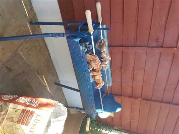 Cyprus BBQ Traditional Greek Cypriot Foukou Rotisserie Charcoal Large BBQ | Blue Review