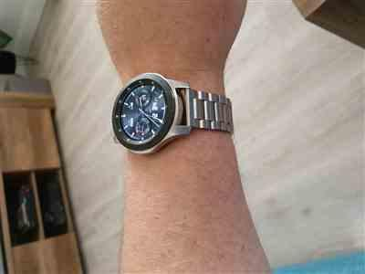Anonymous verified customer review of Classic Stainless Steel Samsung Galaxy Watch Band