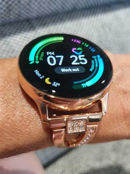 Anonymous verified customer review of Rhinestone Samsung Galaxy Watch Active Band