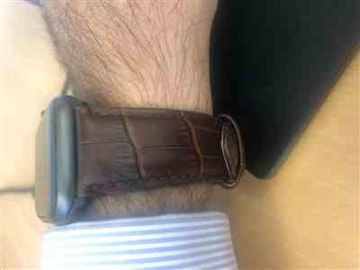 Michael M. verified customer review of Italian Calf Leather Deployant Clasp Apple Watch Bands