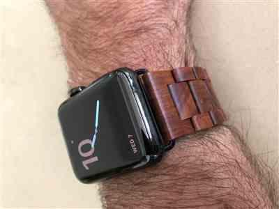 Peter S. verified customer review of Wooden Apple Watch Band