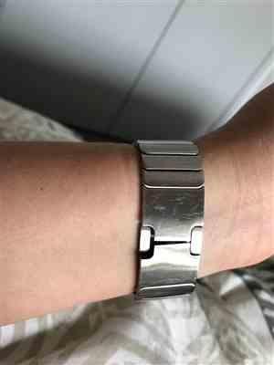 Anonymous verified customer review of Silver Ceramic Stainless Steel Apple Watch Band