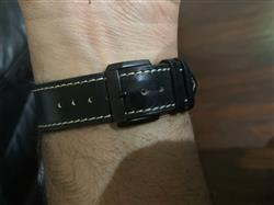 Anonymous verified customer review of Black French Calf Leather Apple Watch Band