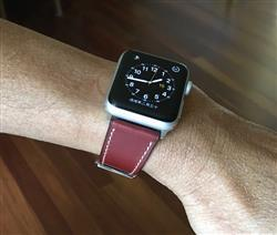 Swee L. verified customer review of Dark Brown French Calf Leather Apple Watch Band