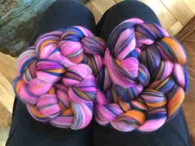 Caroline Fleming verified customer review of Paradise Fibers Multi Color Merino Wool Top - Petals