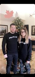 James P. verified customer review of Polite AF Bamboo Sweatshirt - Black