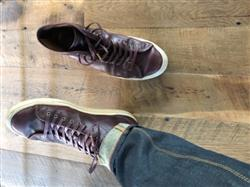 Steven R. verified customer review of Brown Waxed Shoelaces