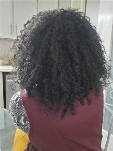 Amber Higgs verified customer review of Clip in Hair Extension Afro Kinky Coily