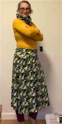 Julia Cuyler verified customer review of Animal Maternal Warmth A-Line Midi Skirt [FINAL SALE]