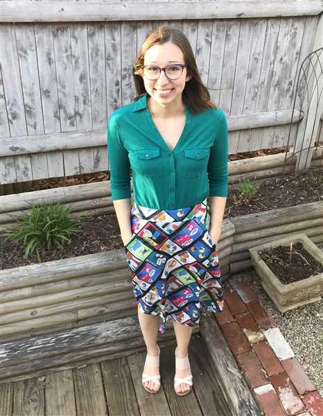 Julia  verified customer review of Amoeba Sisters A-Line Skirt [FINAL SALE]