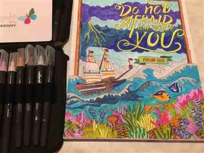 Diane Winkler verified customer review of Watercolor Brush Pens 24 Refillable Colors with Travel Case