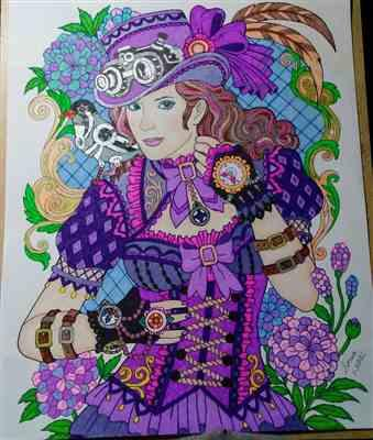 Sonia Duper verified customer review of Colorful World of Steampunk Illustrated By Hasby Mubarok