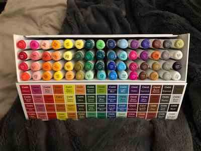Christene Asay verified customer review of ColorIt 60 Dual Tip Art Markers Set for Coloring - Double Sided Artist Alcohol Permanent Markers with Bullet and Chisel Tip