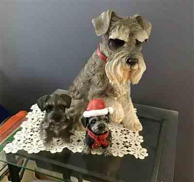 Kaye Gunter verified customer review of Sitting Terrier Christmas Figurine - Large