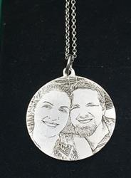 teras verified customer review of 925 STERLING SILVER ENGRAVABLE PHOTO AND LETTERS ROUND HANG TAG NECKLACE