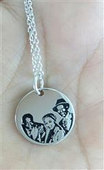 Kristin G. Kinard verified customer review of 925 STERLING SILVER ENGRAVABLE PHOTO AND LETTERS ROUND HANG TAG NECKLACE