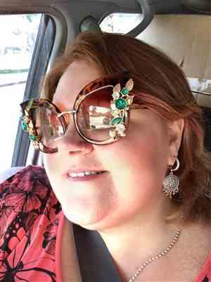 Trina verified customer review of Queens Love - Excess Goddess Sunglasses - Leopard Brown