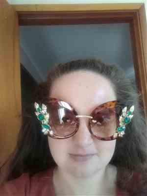 Brittany B. verified customer review of Queens Love - Excess Goddess Sunglasses - Leopard Brown