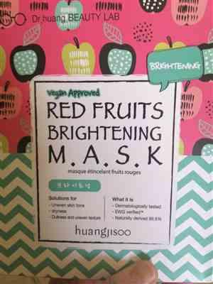 Qiuping Toh verified customer review of Huangjisoo Face Mask - Red Fruit Brightening Mask (Box of 5)