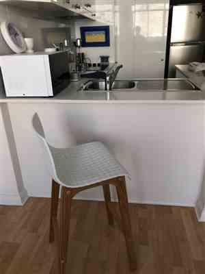 Darryl Bourke verified customer review of Byron Solid Oak Bar Stool in White Acrylic