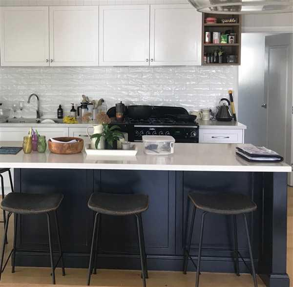 Sue Anderson verified customer review of Tanner Leatherette Kitchen Bar Stool in Vintage Grey