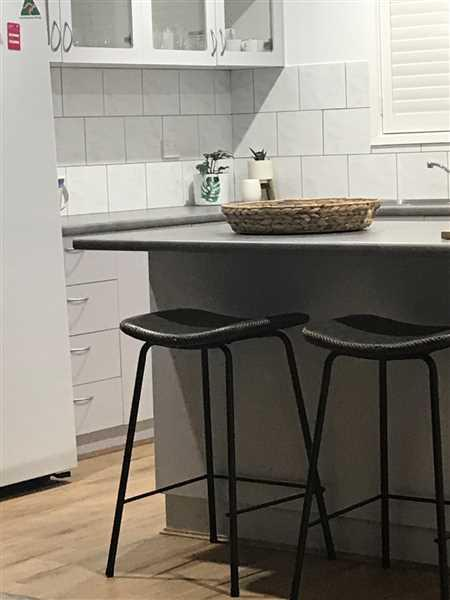Christine Martin verified customer review of Tanner Leatherette Kitchen Bar Stool in Vintage Grey
