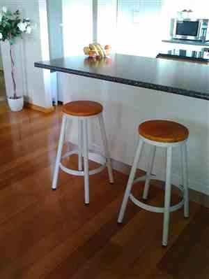 Just Bar Stools Gregory Bar Stool (Set of 2) White Review