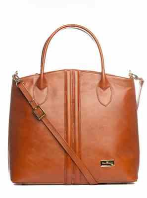 Miss Bliss verified customer review of Eloisa - Structured Leather Handbag - Saddle Brown