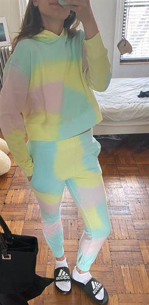 Frankies Bikinis Aiden Sweatpant - Rainbow Tie Dye Review