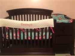Marla G. verified customer review of Navy Floral Crib Sheet - FINAL SALE