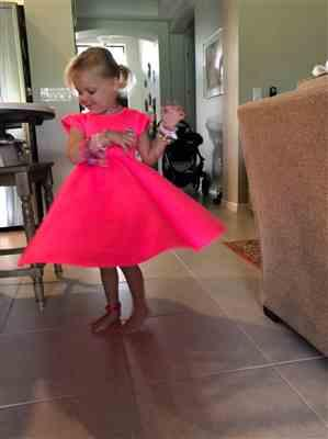 Mary W. verified customer review of Neon Pink Twirl Dress - FINAL SALE