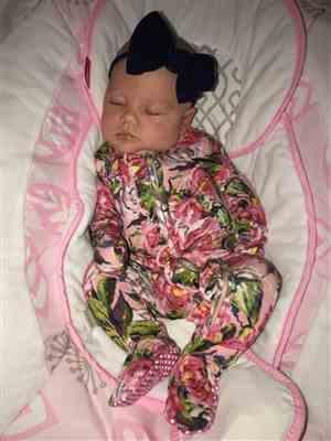 Erin M. verified customer review of Lillian Floral Footie Ruffled Zippered One Piece