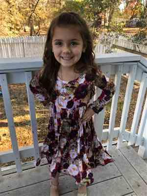 Kailaniy Hanks verified customer review of Gracie Floral Long Sleeve Twirl Dress