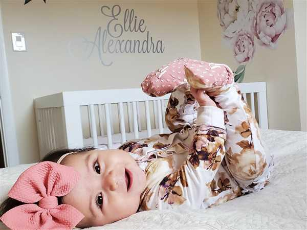 Mily Gomez-Olivas verified customer review of Reese Floral Footie Ruffled Snap One Piece