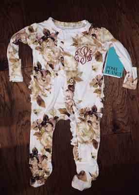 Tonya Williams verified customer review of Reese Floral Footie Ruffled Snap One Piece
