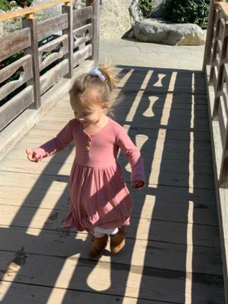 Posh Peanut Blush Rose Ribbed Long Sleeve Twirl Dress Review