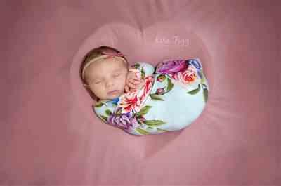 Kayla D. verified customer review of Country Rose Swaddle Headband Set