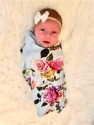 Kristy M. verified customer review of Country Rose Swaddle Headband Set