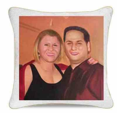 Kelley O. verified customer review of Awkward Throwback Throw Pillow: Your HIDDEN AWKWARD PHOTO on Reversible Sequins!