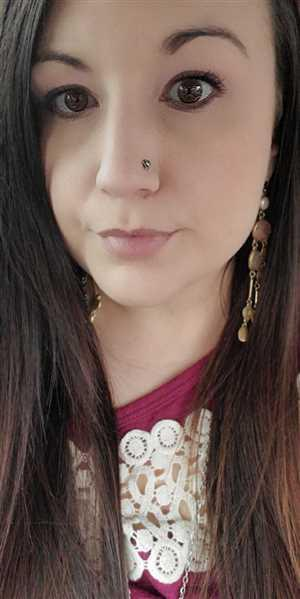 Katie B. verified customer review of Pyrite Star Nose Stud