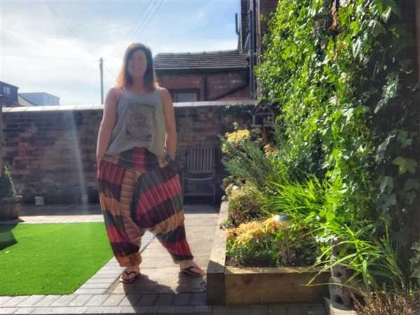 Miss Emma Golpys verified customer review of Colourful Harem Pants