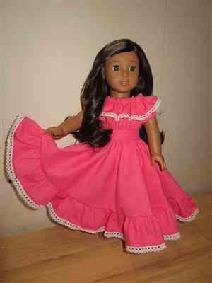 Jasmin verified customer review of Fiesta Folklorico Dress & Blouse 18 Doll Clothes Pattern