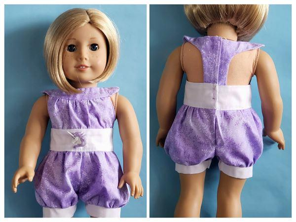 Pixie Faire The Lola Dress and Romper 18 Doll Clothes Pattern Review